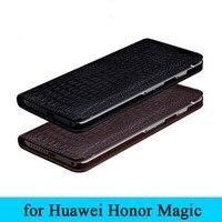 2017 Yeni Özel Satış Inek Sığır Derisi Hakiki Deri Kılıf için Huawei Onur Sihirli Telefon Koruyucu Kapak Kapak İş Cilt Kabuk