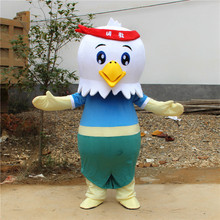 New Cock Costume Rooster Mascot Halloween Christmas Funny Animal Chicken Apparel Adult Size