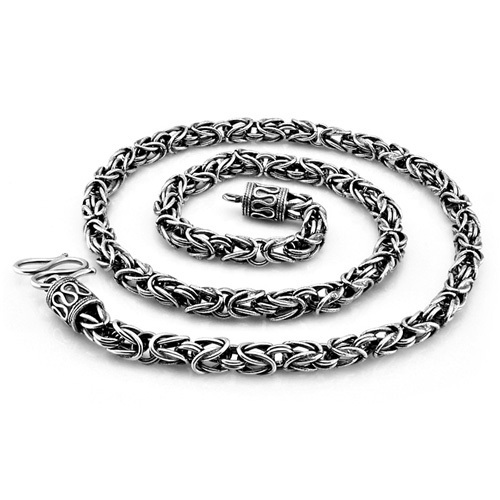 New fashion men sterling silver necklace.6mm66cm solid 925 silver necklace.Thai silver man necklace restoring ancient ways