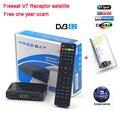 TV vía satélite decodificador Receptor Freesat V7 HD DVB-S2 + 1 unid USB Wifi con 12 meses Europa servidor CCCam apoyo powervu completo cccam