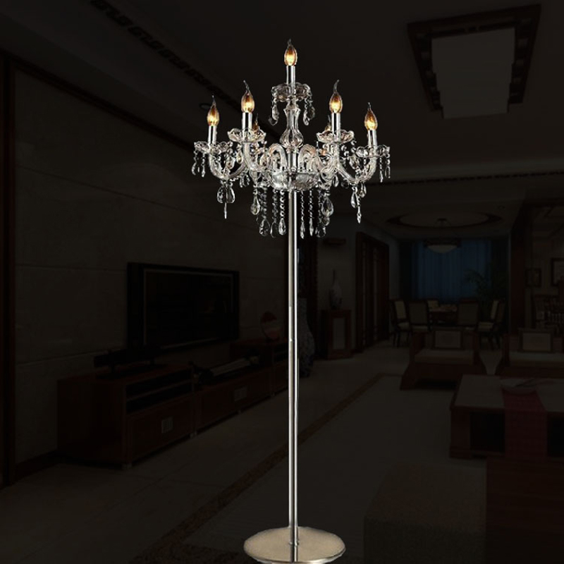 Modern floor lamps for living room luxury fashion brief romantic modern floor lamps for living room luxury fashion brief romantic bedside k9 crystal floor lamp standing lamp for bedroom floor in floor lamps from lights mozeypictures Choice Image