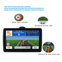 Car 7 inch blue side navigation GPS LCD screen FM Navitel satellite navigation truck GPS Navigator car accessories Multi-country