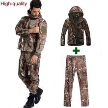 High quality TAD V 4.0 Shark skin Men Outdoor Hunting Camping Waterproof Windproof Coats Jacket Hoody softshell Jacket pants