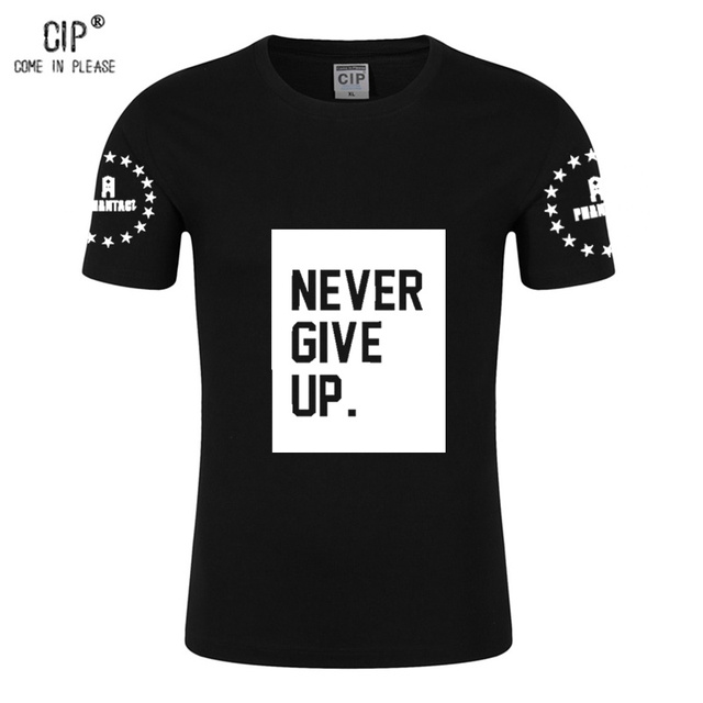CIP Heave Cotton Baby Boy Clothing Summer ALS Ice Bucket Challenge Never Give Up Boys T-shirt Children's Clothes Kids T Shirts