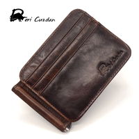 DERI CUZDAN Mens Leather Money Holder Visa Card I Clip Money Card Business Men Thin Dollar Clip Famous Brand Cool Money Clips