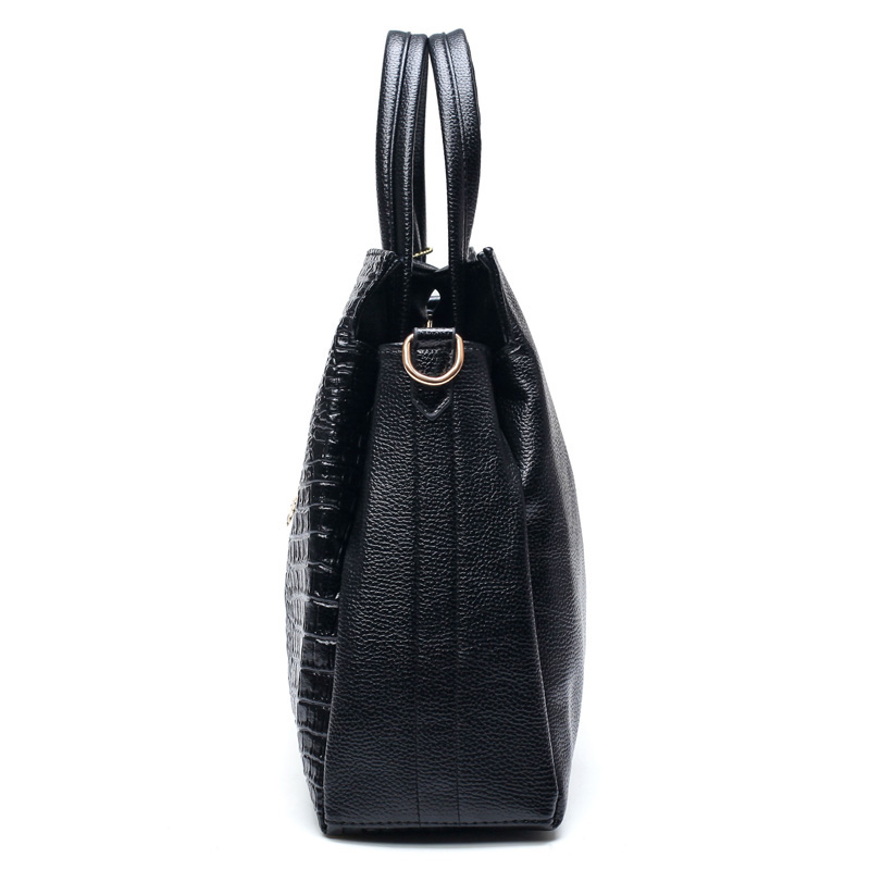 e0e3288683 Fashion PU Leather Big Shoulder Bags 2017 Brand Women Chains Bag High  Quality Ladies Tote Bag Female Coin Purses And Handbags-in Shoulder Bags  from Luggage ...