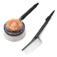 Auto Care Car Cleaning Brush Portable Automatic Rotary Car Brush Durable Switch Water Flow Foam Brush