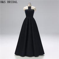 H&S Bridal Halter Elegant evening dresses long women's party formal dresses 2019 Robe De Soiree Sweep train Prom Gowns