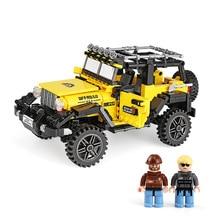 SLPF 610pcs Offroad Adventure Set Building Blocks Car Bricks Toys For Kids Educational Kids Gifts Model Compatible Legoing B12