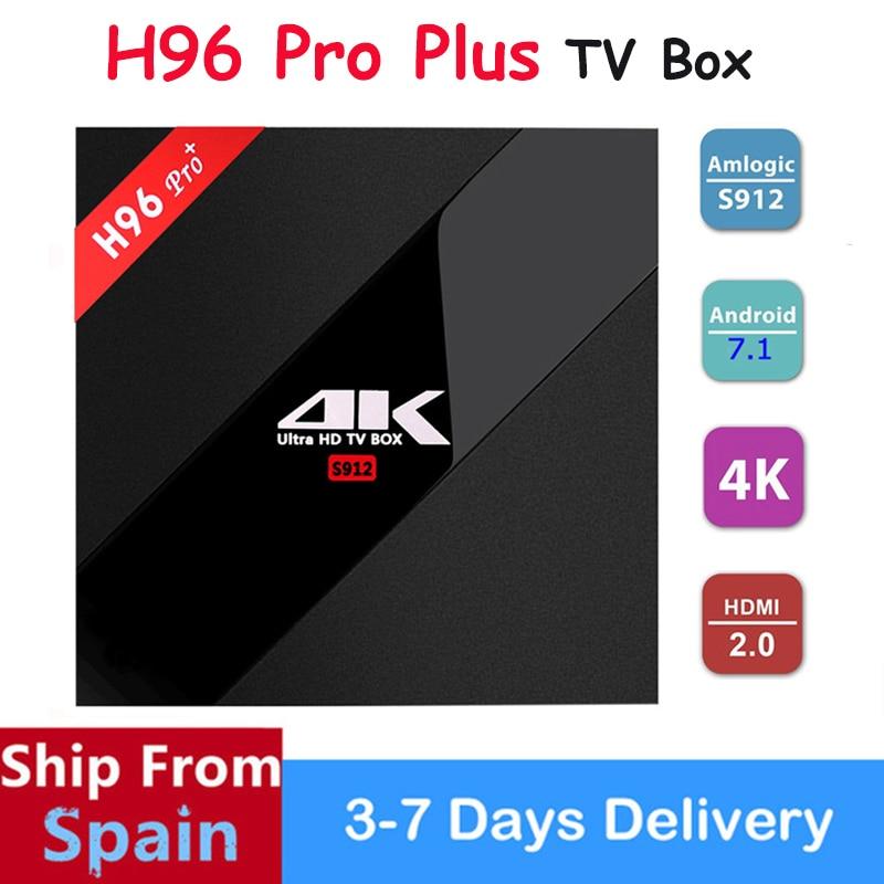 SATXTREM H96 Pro Plus Smart Android 7.1 4K TV Box Amlogic S912 Octa Core 2GB 16GB 3GB 32GB 2.4G/5G Wifi BT4.1 HD Media Player h96 pro tv box android 6 0 amlogic s912 octa core smart tv 3gb ram 16gb rom 2 4g wifi 4k smart media player i8 wireless keyboard