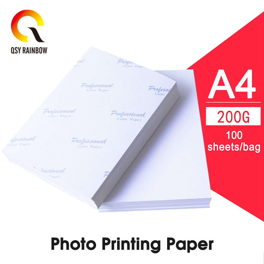 CMYK SUPPLIES 100 Sheets Inch Photographic Paper High Glossy 50 Sheets A4 Double Side Printable Photo Paper