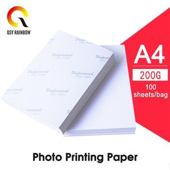 QSYRAINBOW A4 papel fotográfico de alto brillo hoja imprimible imanes de nevera imán de inyección de tinta imagen papel mate acabado