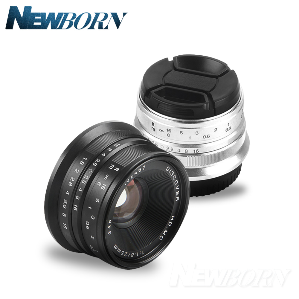 Black/Sliver 25mm F/1.8 HD MC Manual Focus Lens for Sony E NEX Mount Camera A7 A7R A7S A7RII A7SII A6300 A6000 NEX-7 viltrox ef nex iv auto focus adapter mount for canon ef lenses to use on sony full frame a9 a7r camera e mount a6500 a6300 a7rii