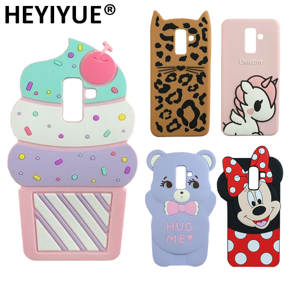 wholesale dealer 4d375 f298e US $2.68 |Cartoon J8 Case Silicone Cat Minnie Stitch Unicorn 3D Back Cover  Skin Cases For Samsung Galaxy J8 2018-in Fitted Cases from Cellphones & ...