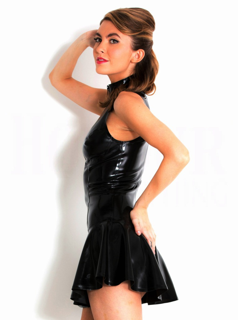 Pvc Leather Skirt - Dress Ala