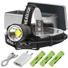 8000 Lumen XHP70.2 most powerful led headlamp headlight head torch led usb head lamp  flashlight XHP70 XHP50 18650 head light