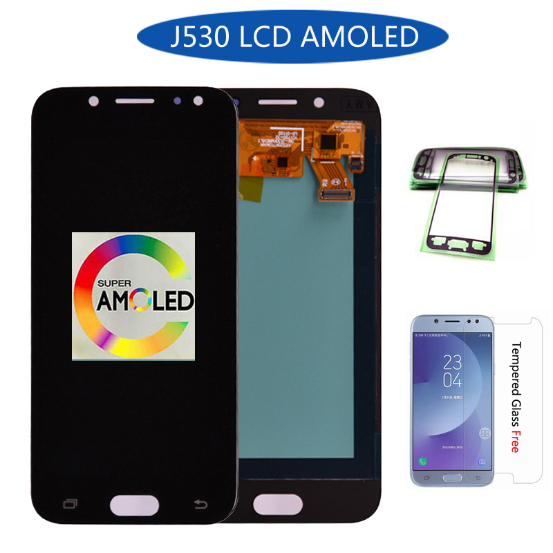 Super Amoled For Samsung Galaxy J5 2017 J530 J530F  LCD Display Touch Screen Digitizer Assembly lcd for J5 Pro 2017 J5 DuosSuper Amoled For Samsung Galaxy J5 2017 J530 J530F  LCD Display Touch Screen Digitizer Assembly lcd for J5 Pro 2017 J5 Duos
