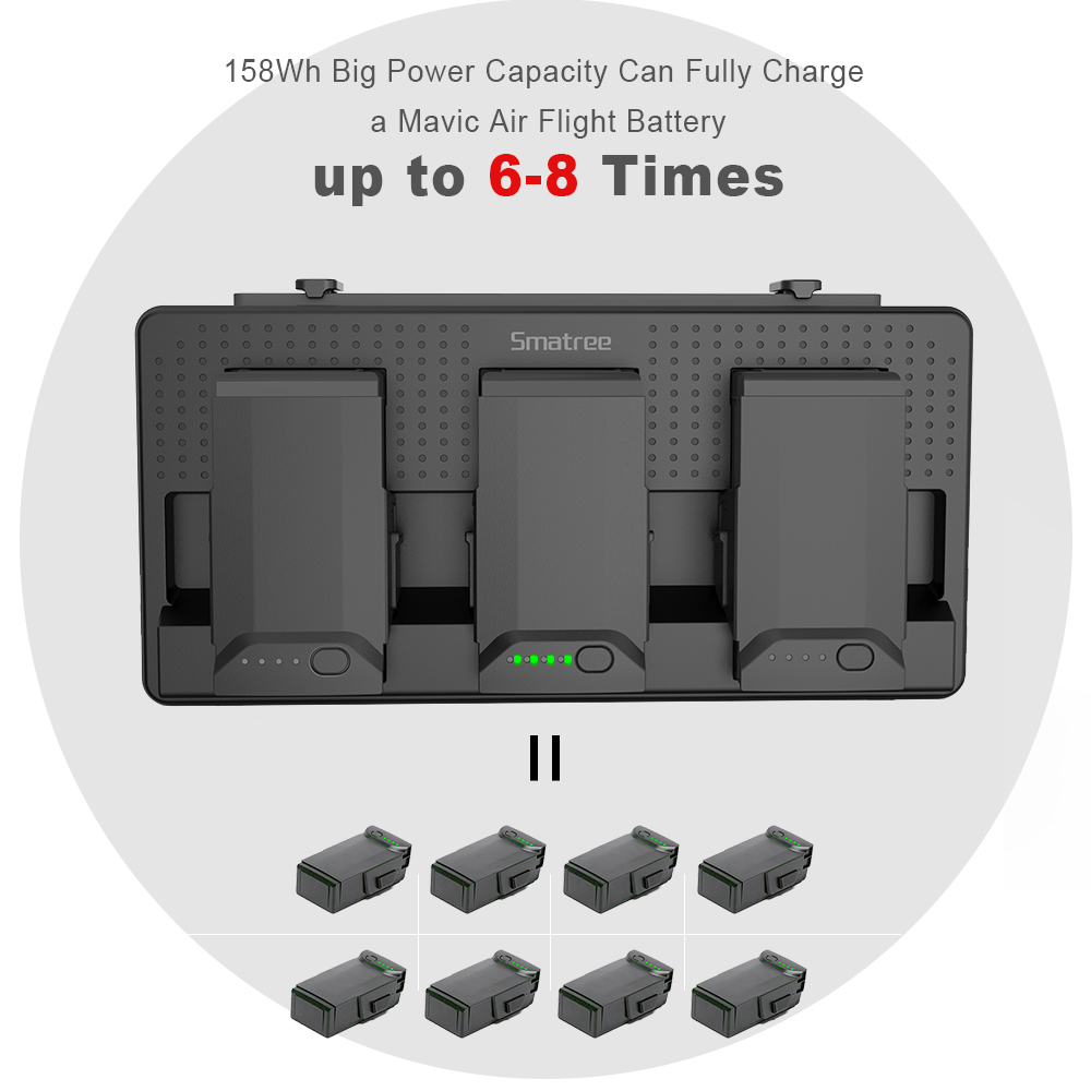 bca32b7a588 Smatree Battery Charger for DJI Mavic Air,DJI Mavic air Battery Charging  Station-in Digital Batteries from Consumer Electronics on Aliexpress.com |  Alibaba ...