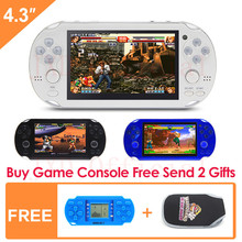 8G Handheld Game Console 4.3 Inch Mp4 Player Video Game Console Retro Games built-in 1200+no-repeat games for gba/gbc/sfc/fc/smd