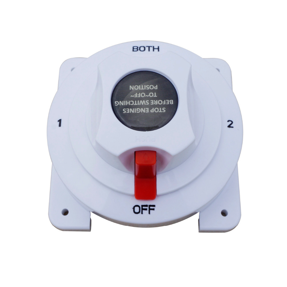 Marine Dual Battery Selector Switch for Boat RV Motor Replaces 4 Position