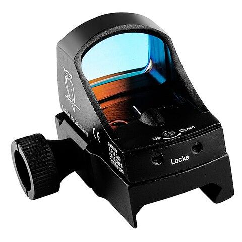 reflex holografica dot sight auto brilho mira laser escopo para airsoft
