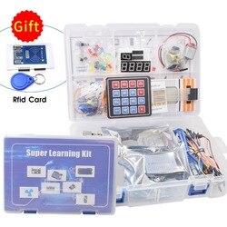 Самый полный стартовый комплект для Arduino R3 с rfid-картой/релейным модулем/шаговым двигателем/Включая учебник