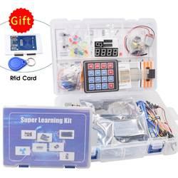 Наиболее полный стартовый комплект для Arduino UNO R3 с rfid-карты модуль/реле/шаговый двигатель/в том числе учебник