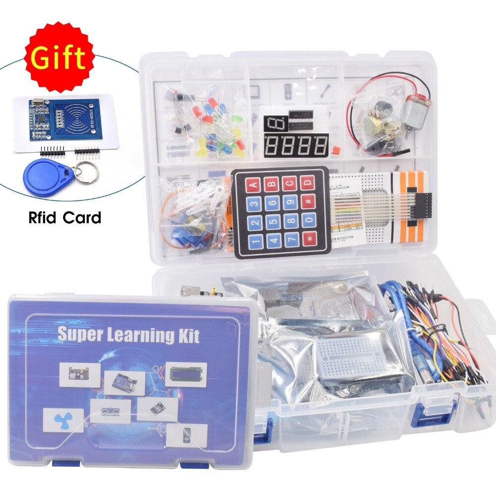Die Meisten Komplette Starter Kit für Arduino UNO R3 mit Rfid karte/Relais Modul/Schrittmotor/einschließlich tutorial