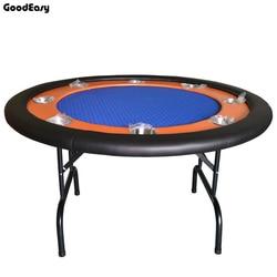 -132*132*76 cm 4 kleuren Rood/Blauw/Groen/Zwart Casino Opvouwbare Poker Tafel texas Hold'em Baccarat Ronde Tbale met 8 spelers