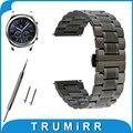 22mm de aço inoxidável watch band para samsung gear clássico s3/fronteira borboleta alça de liberação rápida fivela correia de pulso pulseira