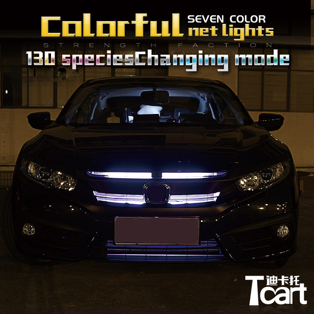 Tcact For Honda Civic 2017 RGB LED Net Lights