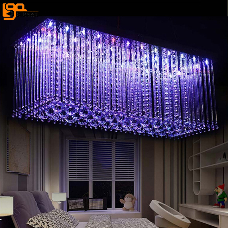 new design RGB LED crystal light modern dinning room crystal chandelier with remote control new design rgb led crystal light modern dinning room crystal chandelier with remote control