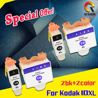 4 pack compatible for Kodak 10 Black & Color Ink Cartridges for ESP 3 5 9 3250 5210 5250 free shipping high capacity