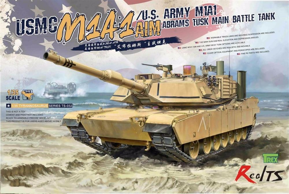 RealTS Meng Model 1/35 TS-032 USMC MBT Abrams M1A1 AIM цена