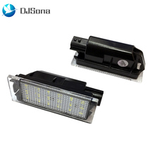 2pcs Car LED License Plate Light SMD 3528 for Renault Megane 2 Clio Laguna 2 Megane 3 Twingo Master Velsatis fs 7701039565 7702127213 for renault megane