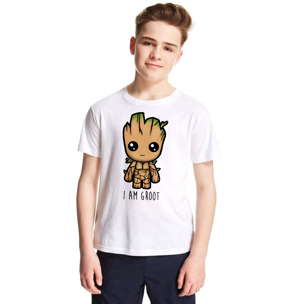 Guardians of The Galaxy 2 Kids T-shirt Anime Baby Tree Pop Groote Summer Funny I AM GROOT Children T Shirt Boys Girls Cool Tops hayes t i am pilgrim