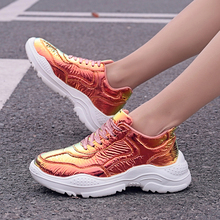 Newest Sneakers Female Fashion Sneakers Lace Up Soft High Leisure Footwears Reverse Light Discoloration Sports Shoes