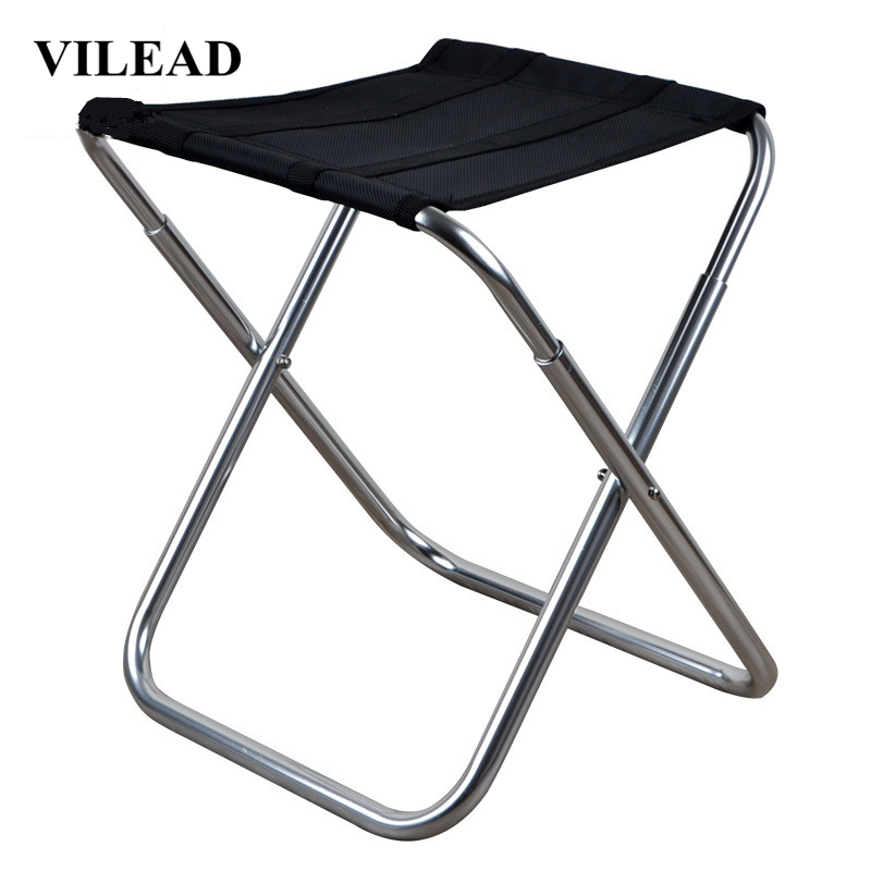 VILEAD 3 Colors Portable Camping Stools Ultralight Folding Chair Aluminium Outdoor Picnic Beach BBQ Fishing Foldable 36 23 32cm in Camping Stools from Sports Entertainment