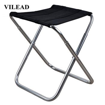 VILEAD 3 kolory przenośne stołki kempingowe Ultralight składane krzesło Aluminium piknik na świeżym powietrzu plaża grill wędkowanie składany 36*23*32cm tanie i dobre opinie Black Red Brown 26*23 5*32 3 cm 40 5*29 8*10 cm 7075 Aluminum alloy 600D PVC Oxford cloth Picnic Fishing Camping Stable