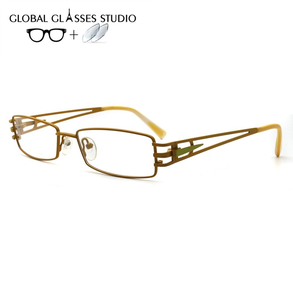 Women Metal  Glasses Frame Eyewear Eyeglasses Reading Myopia Prescription Lens 1.56 Index lX-G14093(China)