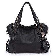 Marke 2017 Frauen Europäischen und Amerikanischen Stil Luxus Schulter Taschen Hobos Designer Quaste Handtasche Aus Echtem Leder Damen Handtasche