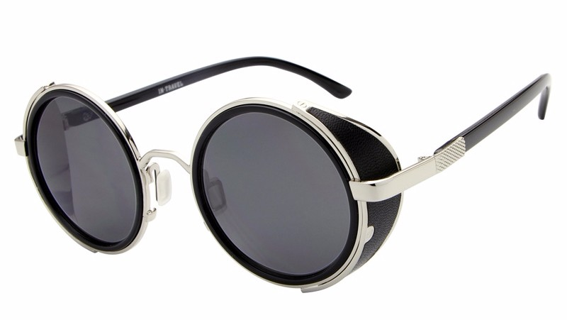Fashion-Vintage-Round-Lens-Metal-Frame-with-Leather-Sun-Shading-Sunglasses-High-Quality-Driving-Retro-Brand_