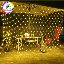 Coversage 2X3M Christmas Garlands LED String 300 Leds Christmas Net Lights Fairy Xmas Garden Wedding Decoration Curtain Lights 4 5x3m christmas garlands led string christmas net lights fairy xmas party garden wedding decoration curtain lights