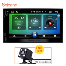 Seicane Android HD 1024*600 2DIN Car Radio Universal GPS Navigation support Bluetooth WIFI OBD DVR with Rearview Camera free