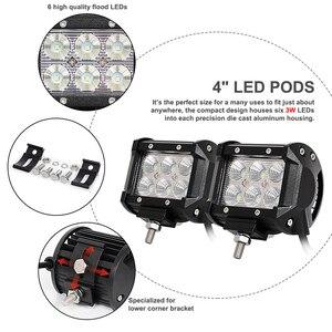 Image 3 - 50 cali 288W Combo podwójny rząd prosto LED światło robocze BarMount wsporniki pilot do Jeep Offroad dla Wrangler TJ 97 06