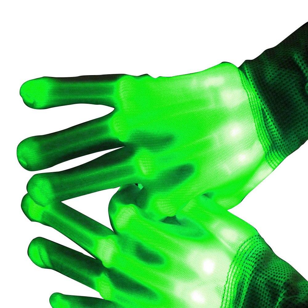 TAOS 1 Paar LED Licht Knipperen Katoen Hand Vinger Handschoenen ...