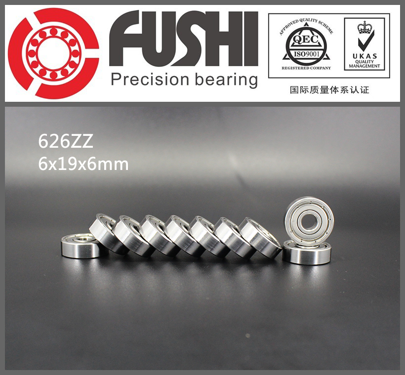626ZZ Bearing ABEC-5 10PCS 6X19X6 mm Miniature 626Z Ball Bearings 626 ZZ EMQ Z3V3 Quality 683zz bearing abec 7 10pcs 3x7x3 mm miniature 683 zz ball bearings 618 3zz emq z3v3 high quality