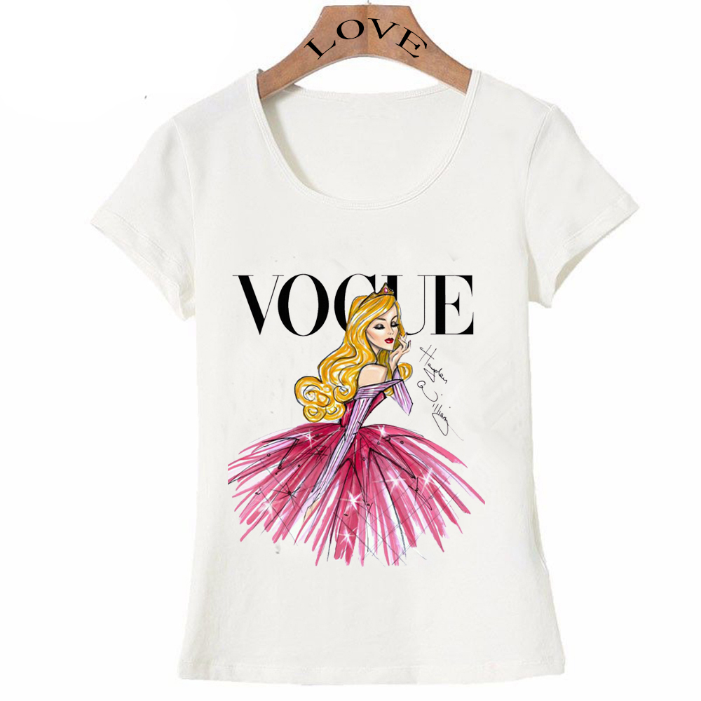 vogue punk princess print t shirt 2016 summer fashion. Black Bedroom Furniture Sets. Home Design Ideas