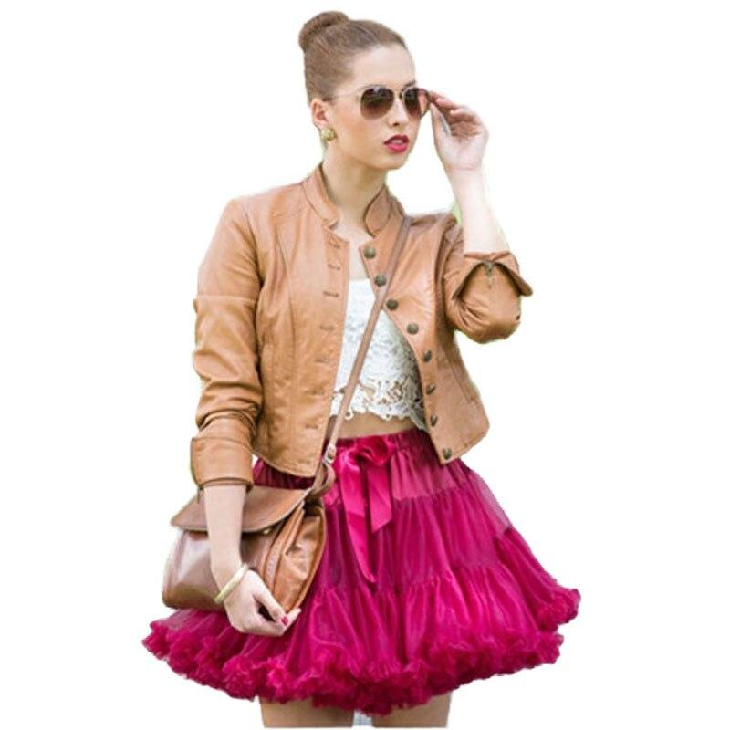 FOLOBE Dospělý Petticoat 2 vrstvy Tyl 40cm Neformální Sukně Tutu Sukně Dámská Tutu Kostým Balet Taneční Puffy Spodní prádlo TT004