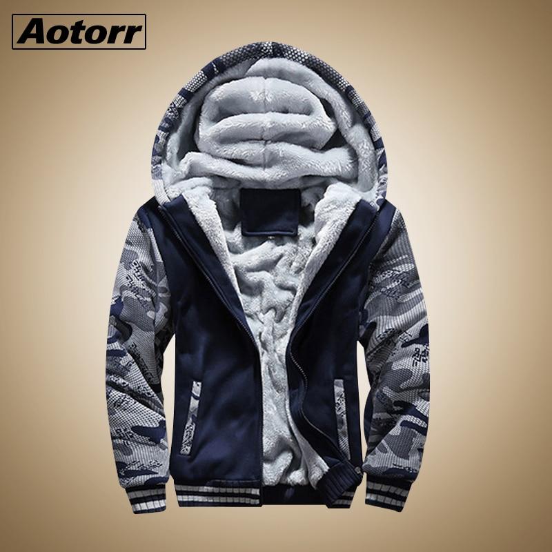 Warm Jacket Men Causal Parkas hombre Men Fleece Hooded Jacket Winter Coat Male Sweatshirt Overcoat Outerwear Brand Men Clothing(China)